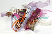 Cluster of Ribbons with Variety of Textures — Stock Photo