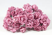 Collection of Pale Pink Artificial Paper Roses — Stock Photo