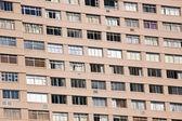 Closeup Hi-rise Apartment Complex with Brown Facade — Stock Photo
