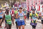 Closeup of Runners and Spectators at Comrades Marathon — Stok fotoğraf