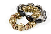 Two Costume Jewellery Bracelets in Gold and Black — Stockfoto