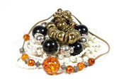 Assortment of Costume Jewellery in Bright Colors — Stock Photo