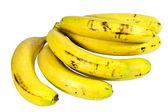 Banda zralé žluté banány připravené k jídlu — Stock fotografie