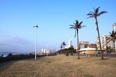 Promenade lined with Hotels along Durban's Golden Mile  — Стоковое фото