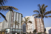 View of Golden Mile Beachfront Hotels, Durban South Africa — Stock Photo