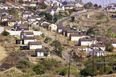 Low Cost Township Houses in Suburbs of Durban, South Africa — Stock Photo