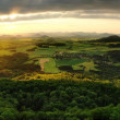 Early morning panorama view to countryside. — Stock Photo