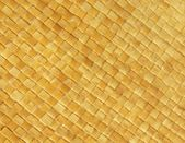 Nature straw matting texture, sand yellow color. — Stock Photo