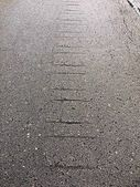Crack of asphalt road, destruction of the surface. — Stock Photo