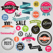 Vector labels and icons — Stock Vector
