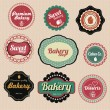 Set of vector premium bakery sweets labels and elements — Stock Vector