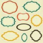 Set of vector retro text frames — Stock Vector