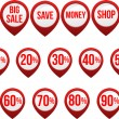 Set of sale icons — Stock Vector