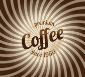 Premium coffee background — Stock Vector