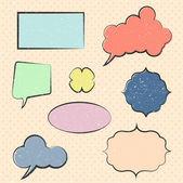 Vector color text bubbles — Stock Vector