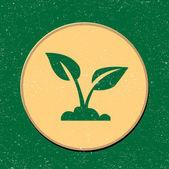 Vector ecology sign sticker — Stock Vector