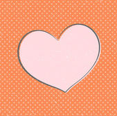 Vignetta vintage cuore vettoriale — Vettoriale Stock