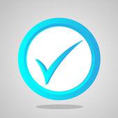 Vector check icon — Stock Vector
