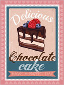 Dolci panetteria greeting card design commerciale — Vettoriale Stock