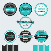 Vector premium product labels and stickers — Stock Vector