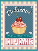 Cupcake vintage design — Stock Vector
