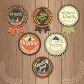 Set of fruit organic labels — Stockvektor