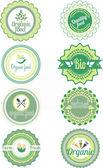 Set di etichette organici vettoriale e gli elementi — Vettoriale Stock