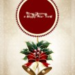 Christmas bells card background — Image vectorielle
