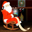Christmas Santa Claus — Stockvectorbeeld