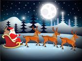 Christmas Santa background — Stock Vector