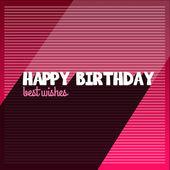 Happy birthday vintage background — Stock Vector