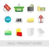 Sale icon set — Stock Vector