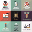 Set of quality education flat icons — Stock Vector #41103237