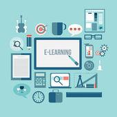 E-learning — Stockvektor