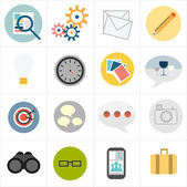 Business icons — Vettoriale Stock