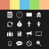 Conjunto de ícones diferentes — Vetor de Stock