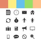 Verschillende pictogrammen set — Stockvector