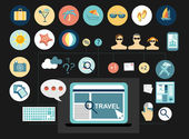 Travel icons set — Stockvector