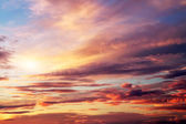 Sunset colorful sky. Beautiful colorful sky. Sky background — Stock Photo