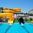 Aquapark sliders, aqua park, water park. Kirillovka, Ukraine — Stock Photo