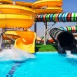 Stock Photo: Aquapark sliders, aqupark, water park.