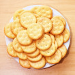 A plate of crackers — Stock Photo
