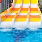 Aquapark sliders, aqua park, water park. — Stock Photo #34678893