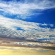 Beautiful colorful cloudy sky. Cloudy abstract background. — Stock Photo