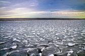 Vinterlandskap. sammansättningen av naturen. — Stockfoto