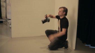 Work in photo studio — Stock Video
