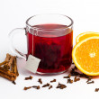Tea with orange and cinnamon — Stock Photo