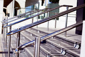 Beautiful stainless steel railings — Stock Photo