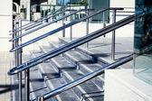 Beautiful stainless steel railings — Stock Photo