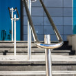 Stainless steel railings — Stock Photo #35945569